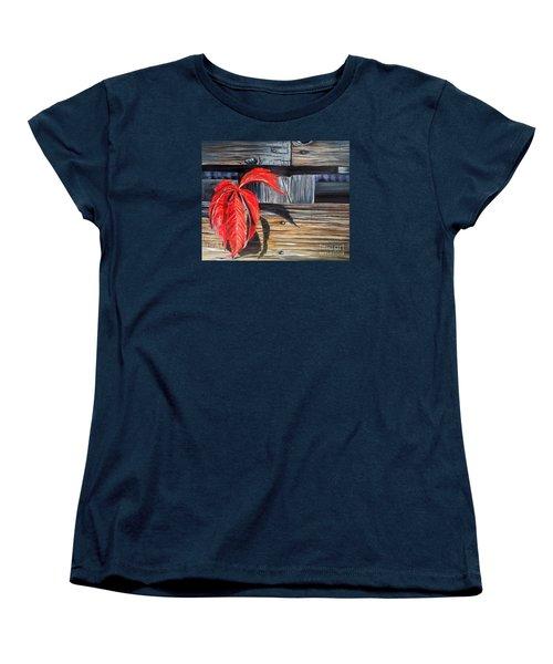 Leaf Shadow 2 Women's T-Shirt (Standard Cut) by Marilyn  McNish