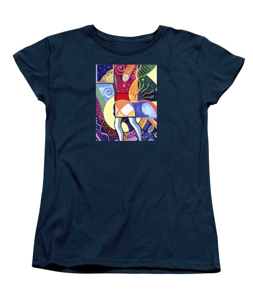 Leaping And Bouncing Women's T-Shirt (Standard Cut) by Helena Tiainen