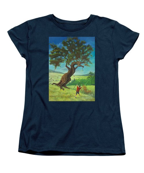 Women's T-Shirt (Standard Cut) featuring the painting Legendary Archer by Rob Corsetti