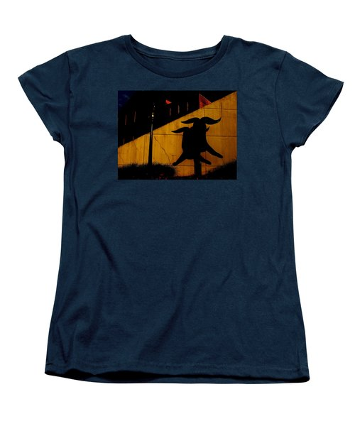 Lehigh University Sculpture By Kadishman Women's T-Shirt (Standard Cut) by Jacqueline M Lewis