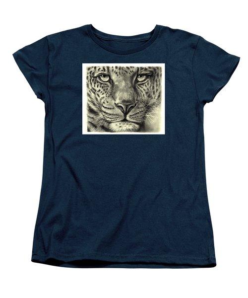 Leopard Women's T-Shirt (Standard Cut) by Heidi Kriel