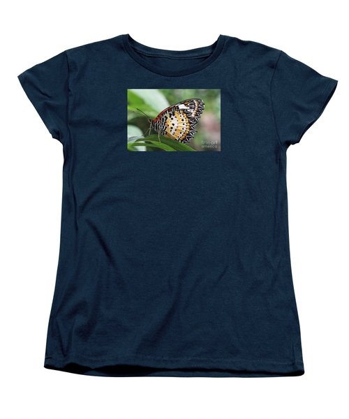 Leopard Lacewing Butterfly Women's T-Shirt (Standard Cut) by Judy Whitton