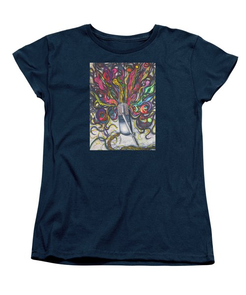 Women's T-Shirt (Standard Cut) featuring the painting Let Your Music Flow In Harmony by Chrisann Ellis