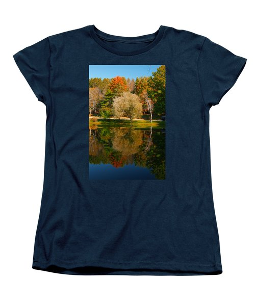 Letchworth Autumn Reflections Women's T-Shirt (Standard Cut) by Richard Engelbrecht