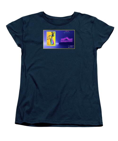 Women's T-Shirt (Standard Cut) featuring the digital art Libra by The Art of Alice Terrill