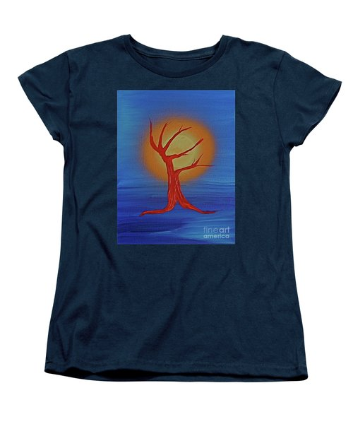 Women's T-Shirt (Standard Cut) featuring the painting Life Blood By Jrr by First Star Art