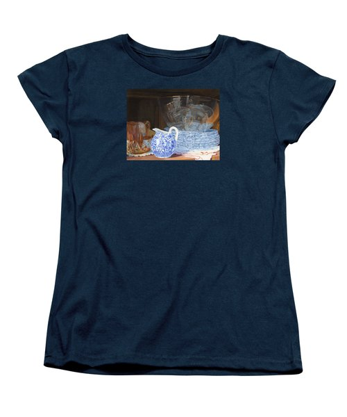 Women's T-Shirt (Standard Cut) featuring the painting Life Is A Carnival Glass by Lynne Reichhart