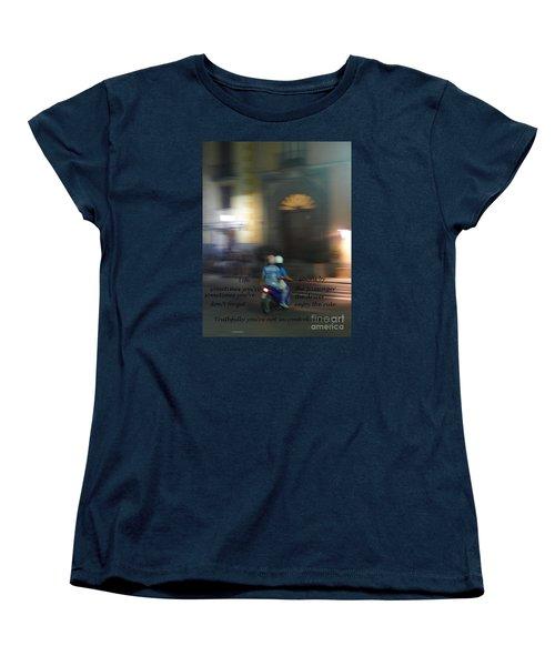 Life Zooms By  Women's T-Shirt (Standard Cut) by Nora Boghossian
