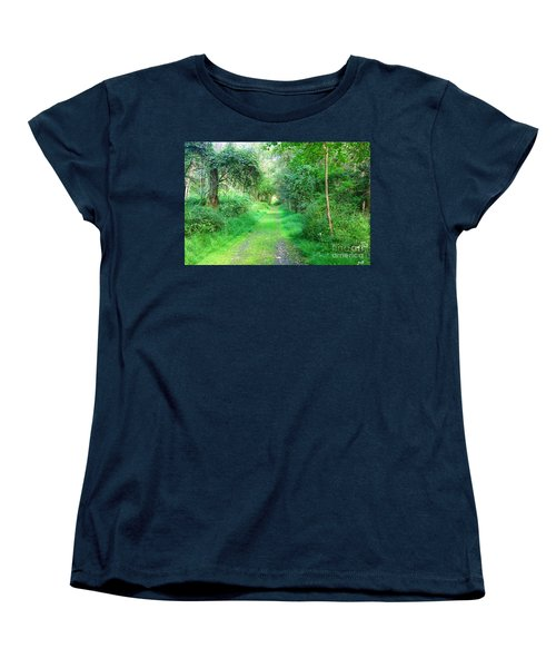 Women's T-Shirt (Standard Cut) featuring the photograph Light At The End Of The Tunnel by Becky Lupe