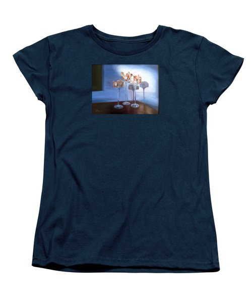 Women's T-Shirt (Standard Cut) featuring the painting Light Glass And Shells by LaVonne Hand
