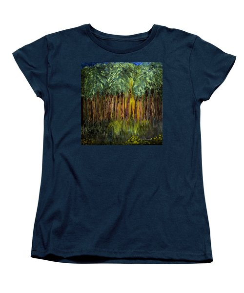 Light In The Forest Women's T-Shirt (Standard Cut) by Dick Bourgault