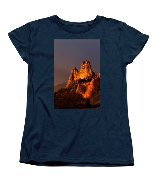 Women's T-Shirt (Standard Cut) featuring the photograph Light On The Rocks by Ronda Kimbrow