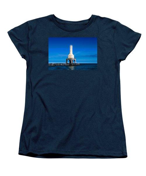 Lighthouse Blues Women's T-Shirt (Standard Cut) by James  Meyer