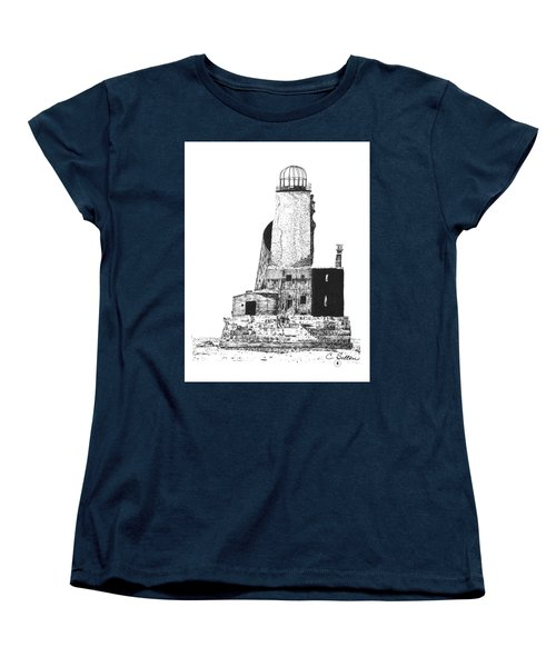 Women's T-Shirt (Standard Cut) featuring the drawing Lighthouse by C Sitton