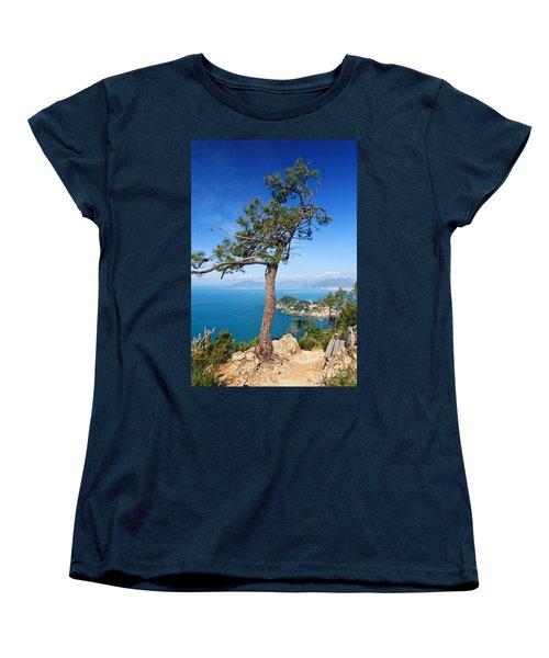 Women's T-Shirt (Standard Cut) featuring the photograph Liguria - Tigullio Gulf by Antonio Scarpi