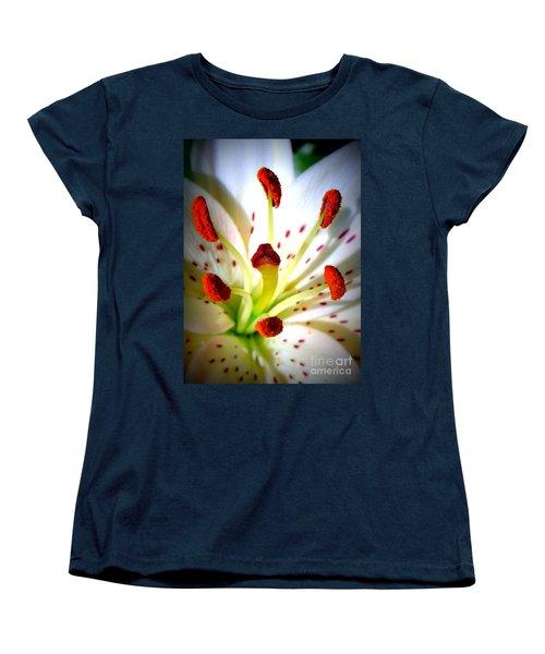 Lily Center Women's T-Shirt (Standard Cut) by Patti Whitten