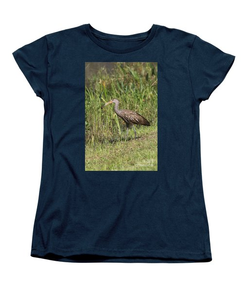 Limpkin With Apple Snail Women's T-Shirt (Standard Cut) by Christiane Schulze Art And Photography