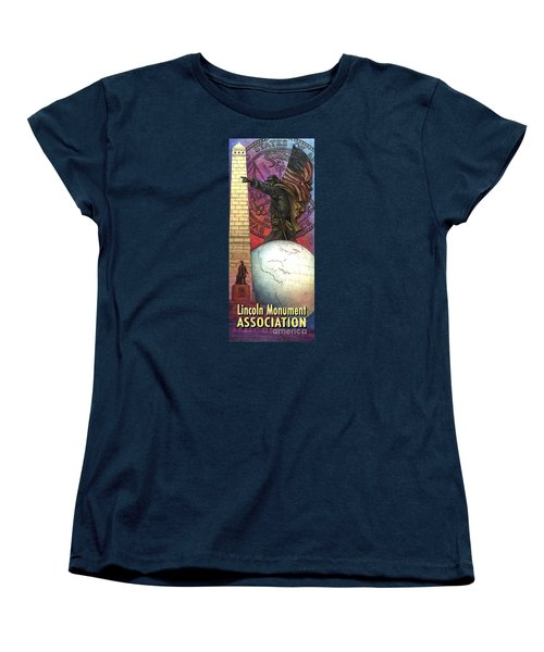 Lincoln Monuments Street Banners Civil War Flag Bearer Women's T-Shirt (Standard Cut) by Jane Bucci