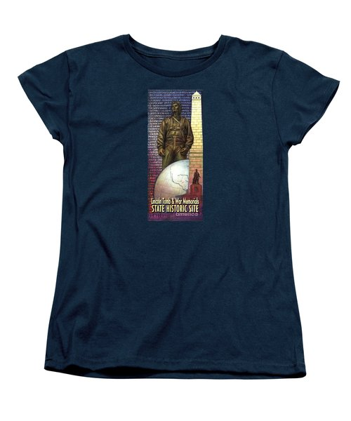 Lincoln Tomb And War Memorials Street Banners Korean War Pilot Women's T-Shirt (Standard Cut) by Jane Bucci