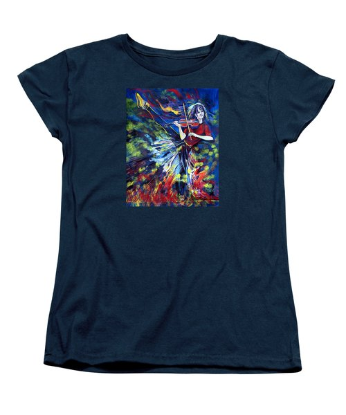Lindsey Stirling. Dancing Violinist Women's T-Shirt (Standard Cut) by Anna  Duyunova
