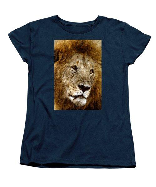 Lion 01 Women's T-Shirt (Standard Cut) by Wally Hampton