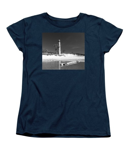Litle Sable Light Station - Film Scan Women's T-Shirt (Standard Cut) by Larry Carr