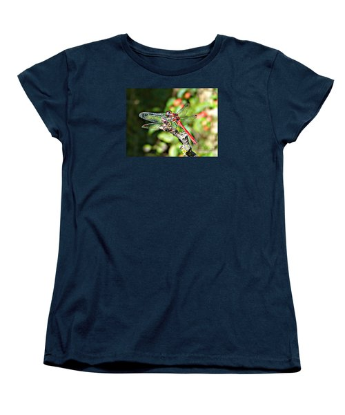 Women's T-Shirt (Standard Cut) featuring the photograph Little Dragonfly by Morag Bates