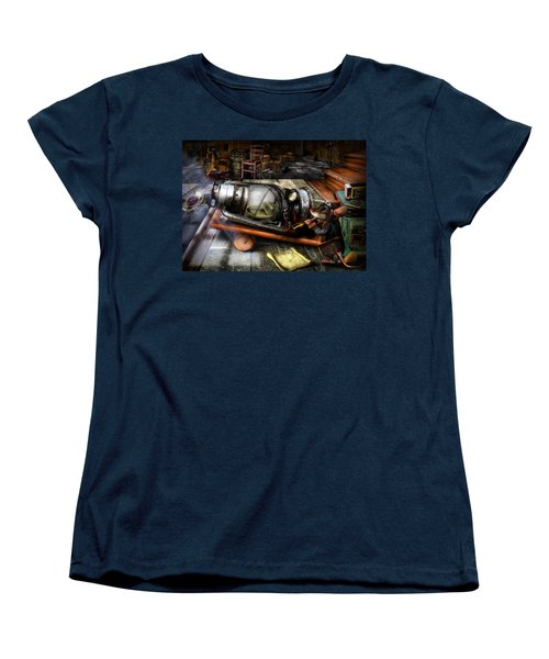Little Mouse And The Moon Women's T-Shirt (Standard Cut) by Alessandro Della Pietra