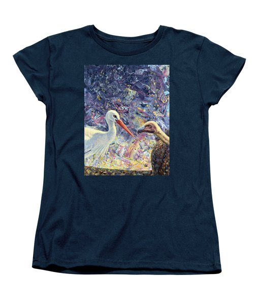 Living Between Beaks Women's T-Shirt (Standard Cut) by James W Johnson