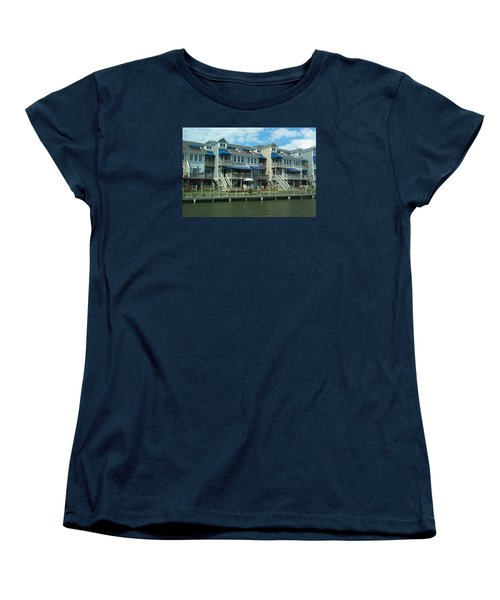 Women's T-Shirt (Standard Cut) featuring the photograph Living On The Dock Of The Bay by Emmy Marie Vickers