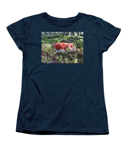 Lobster Mushroom Women's T-Shirt (Standard Cut) by Leone Lund
