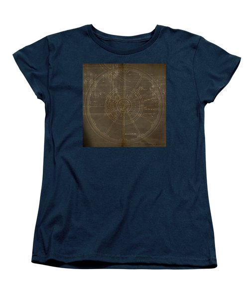 Women's T-Shirt (Standard Cut) featuring the painting Locomotive Wheel by James Christopher Hill