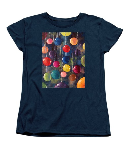 Women's T-Shirt (Standard Cut) featuring the painting Lollipops Or Balloons? by Megan Walsh