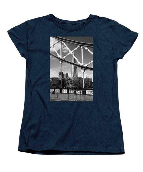 Women's T-Shirt (Standard Cut) featuring the photograph London Bridge With The Shard by Chevy Fleet