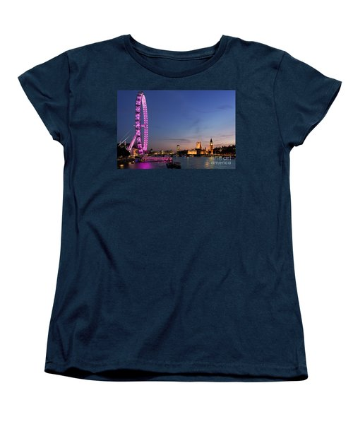 London Eye Women's T-Shirt (Standard Cut) by Rod McLean