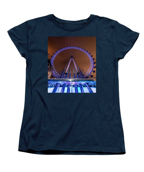 Women's T-Shirt (Standard Cut) featuring the photograph London Eye Supports by Matt Malloy