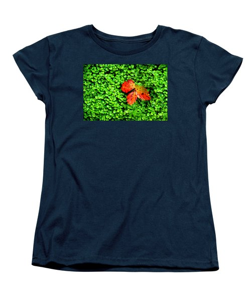 Women's T-Shirt (Standard Cut) featuring the photograph Lonely Leaf by Charlie and Norma Brock