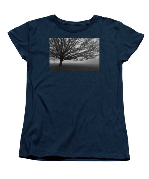 Women's T-Shirt (Standard Cut) featuring the photograph Lonely Low Tree by Maj Seda