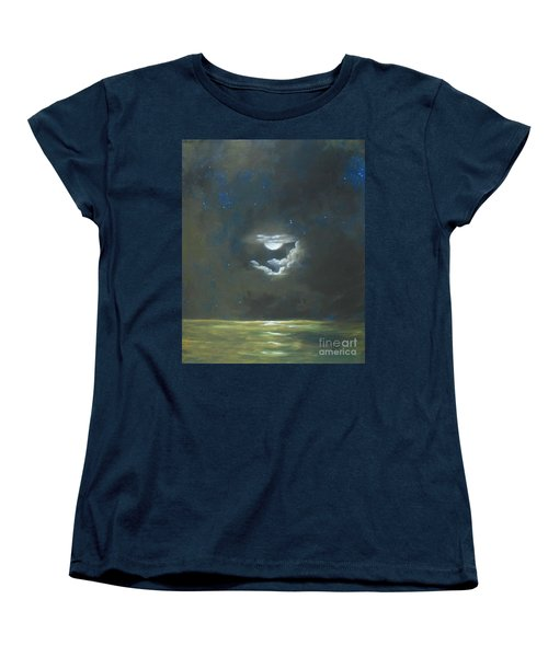 Women's T-Shirt (Standard Cut) featuring the painting Long Journey Home by Marlene Book