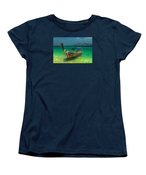 Women's T-Shirt (Standard Cut) featuring the photograph Longboat by Adrian Evans