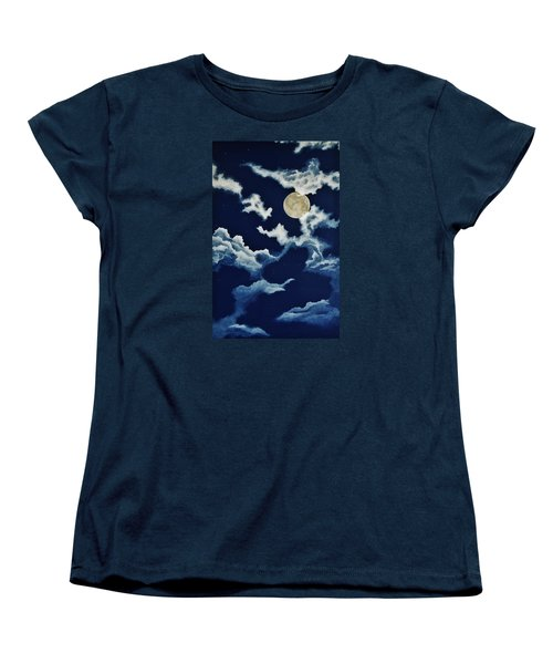 Look At The Moon Women's T-Shirt (Standard Cut) by Katherine Young-Beck