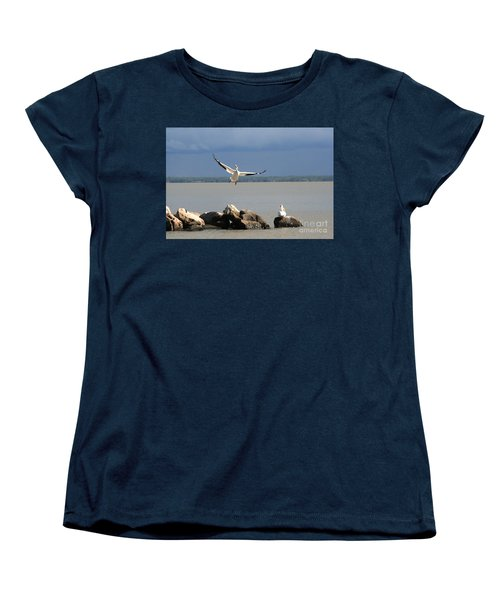 Look Ma - I Can Fly Women's T-Shirt (Standard Cut) by Mary Mikawoz