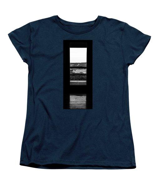 Looking Out A Country Door. Women's T-Shirt (Standard Cut) by Darryl Dalton