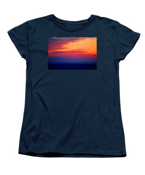 Lookout Mountain Sunset Women's T-Shirt (Standard Cut) by Tara Potts