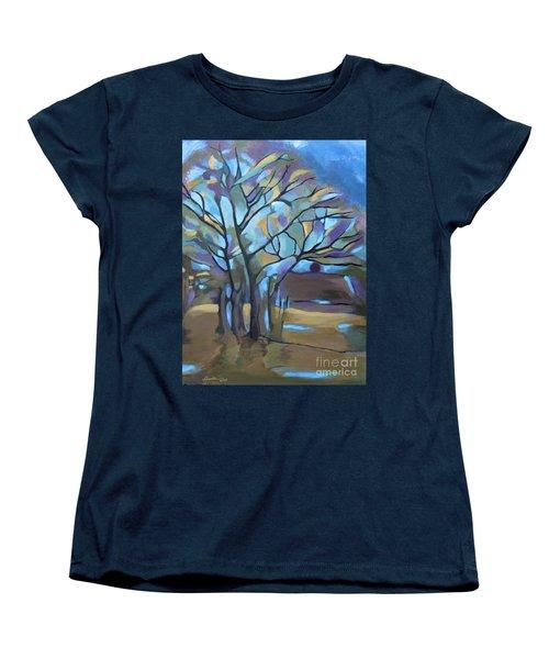 Looks Like Mondrian's Tree Women's T-Shirt (Standard Cut)