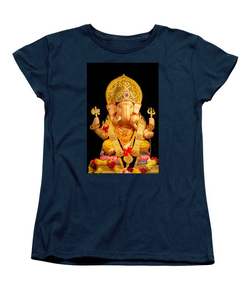 Lord Ganesha Women's T-Shirt (Standard Cut) by Kiran Joshi