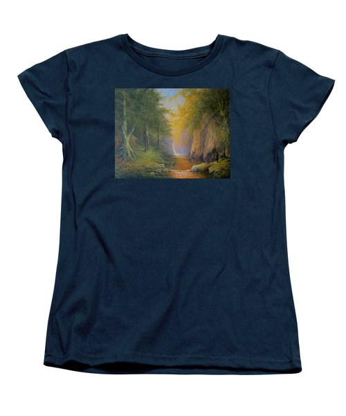 Lord Of The Rings Fangorn Treebeard Merry And Pippin Women's T-Shirt (Standard Cut) by Joe  Gilronan