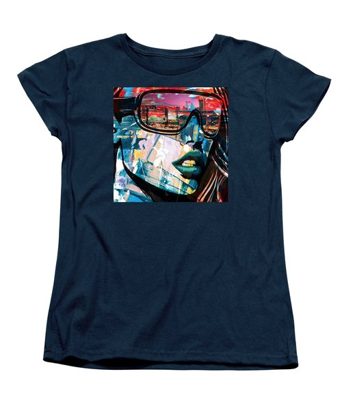 Los Angeles Skyline Women's T-Shirt (Standard Cut) by Corporate Art Task Force