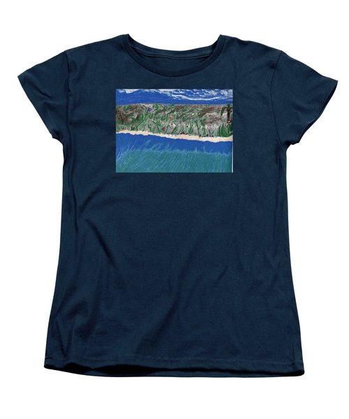 Women's T-Shirt (Standard Cut) featuring the painting Lost Island by Kim Pate