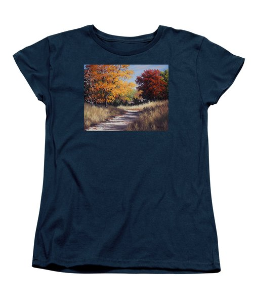 Lost Maples Trail Women's T-Shirt (Standard Cut) by Kyle Wood